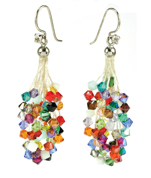 michaud yankee michael cascade hydrangea earrings silverseasons crafty products