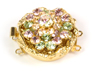 Rotunda Gold Plate Chrysolite, Lt Amethyst, Silk