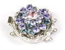 Rotunda Rhodium Plate Denim Blue, Tanzanite, Provence Lavendar, Lt Amethyst